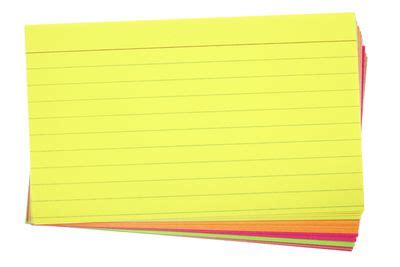 Note card practice for research paper